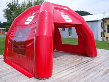 Inflatable tent 4x4m for Sparkasse & Display-Max | Inflatable Tent 8x8m