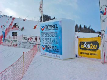 Werbequader for Meribel