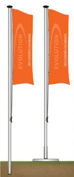 Flag pole 60 mm, 6.0 m with external cable guide