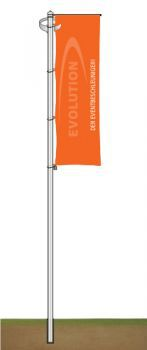 Flag Pole 75 mm, 6.0 Metres with rotary head boom
