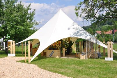 StarTent 14 Metres & Display-Max | StartTent 14 Metres u2013 the robust event tent shaped ...